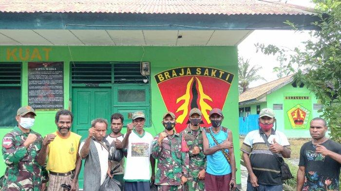 Idul Adha di Batas Negara, Satgas TNI Pos Mosso Bagikan Daging Kurban Kepada Warga Papua