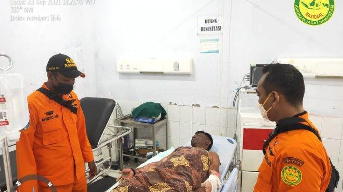 Satu Korban Luka Bakar Serius Dirawat di RSUD Waisai. (Dok: Basarnas)