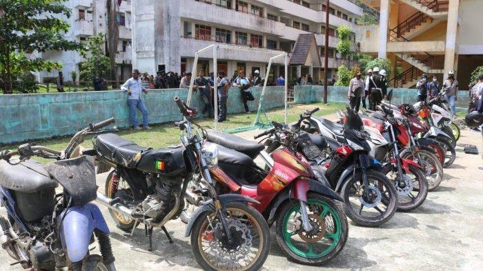 Razia Rusunawa Perumnas III Waena, Polisi Amankan 14 Sepeda Motor Hasil Curian