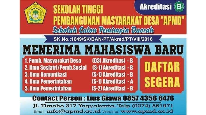 Sekolah Tinggi Pembangunan Masyarakat Desa APMD Yogyakarta: Sekolah Calon Pemimpin Daerah