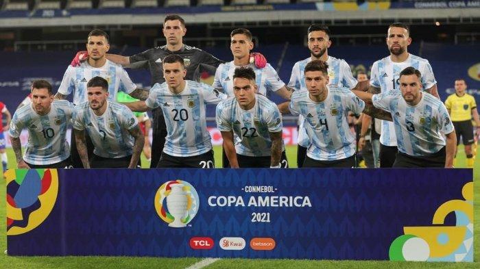 Hasil dan Klasemen Lengkap Copa America 2021 setelah Timnas Argentina Menang Tipis atas Paraguay