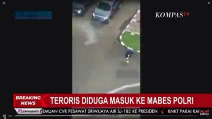 Identitas Terduga Teroris yang Bawa Pistol ke Mabes Polri Seorang Wanita, Ini Video Detik-detiknya