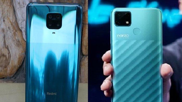 Perbandingan Spesifikasi Xiaomi Redmi Note 9 dan Realme Narzo 3A, Ini Beda Harganya
