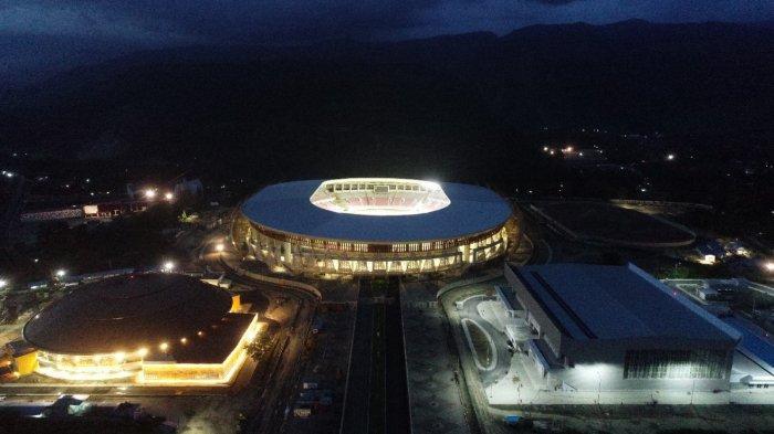 Stadion Lukas Enembe di Kampung Harapan Sentani, Kabupaten Jayapura yang digunakan untuk PON XX 2021