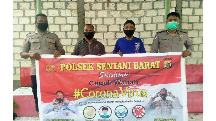 Polsek Sentani Barat bagikan Masker Cegah Penyebaran COVID-19: Ini sebagai Kepedulian Polri