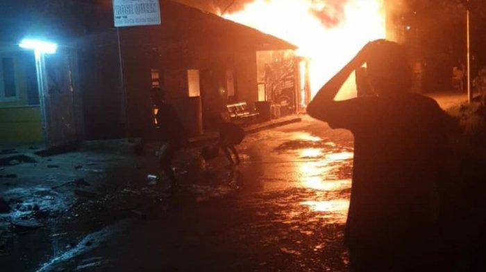 Kebakaran Terjadi di Kawasan Kali Acai Abepura, 11 Bangunan hingga Tiga Sepeda Motor Hangus