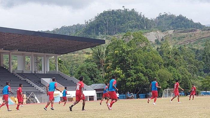 Suasana latihan Persipura Jayapura, Senin (5/4/2021)