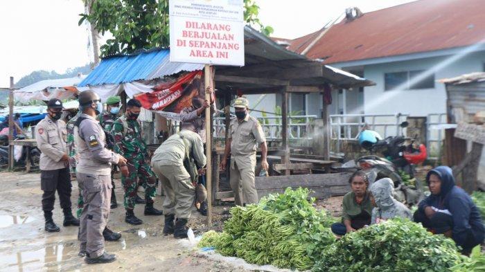 Pemkot Jayapura Tertibkan Ratusan Pedagang di Bekas Pasar Youtefa