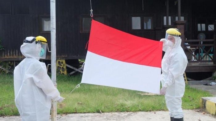 Tenaga Kesehatan Corona Upacara Kemerdekaan Pakai Baju Hazmat: Semoga Merdeka dari Covid-19
