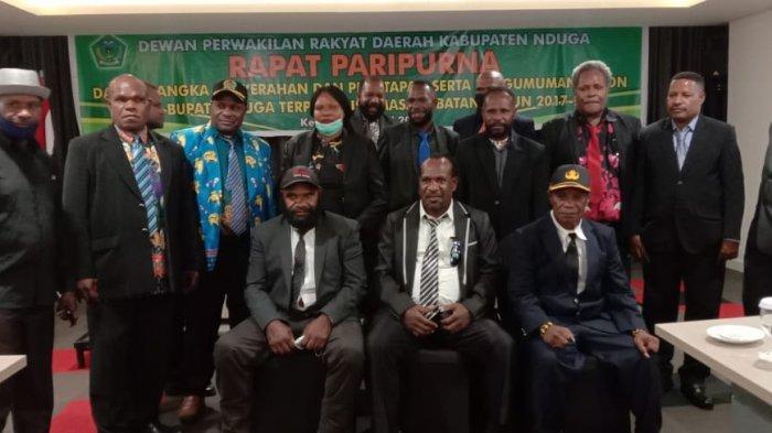 DPRD Nduga Tetapkan Dinar Kelnea sebagai Wakil Bupati Terpilih di Rapat Paripurna