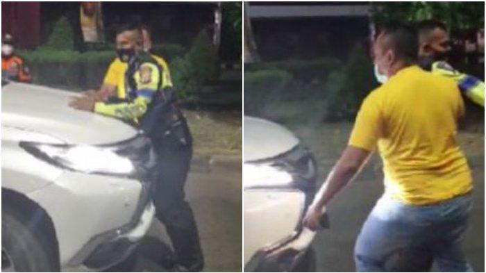 Fakta Viral Pria Terobos Penyekatan PPKM Darurat hingga Tarik Polisi yang Halangi Mobilnya Lewat