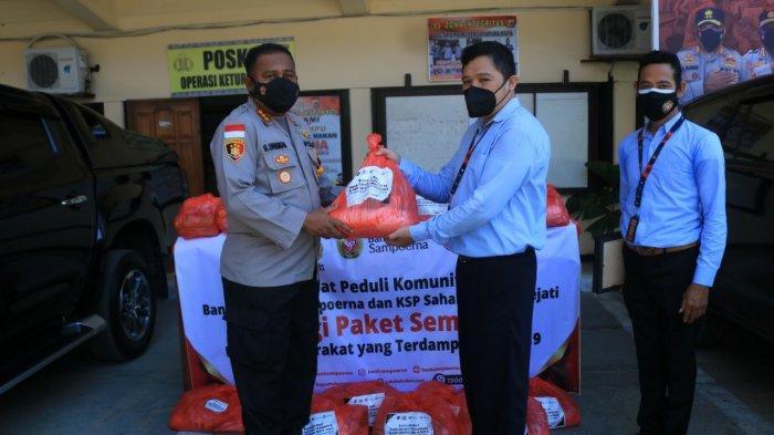 Bank Sampoerna Berikan Bantuan Sembako Kepada Polresta untuk disalurkan ke Warga