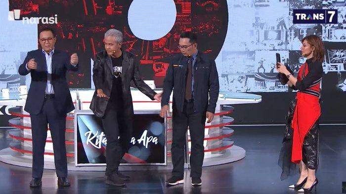 Video Ganjar, Anies dan Ridwan Kamil Ditantang Lakukan Goyang TikTok, Siapa Paling Jago?