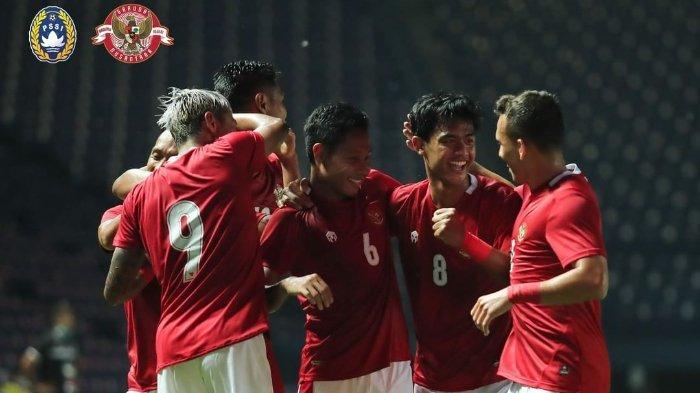 Timnas Indonesia menang 2-1 atas Taiwandalam lagaplay-offKualifikasiPiala Asia2023, di Stadion Chang Arena Buriram, Thailand, pada Kamis (7/10/2021).