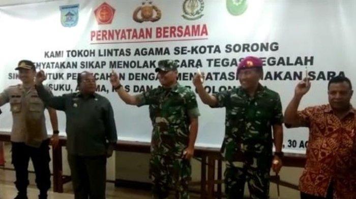 Gelar Deklarasi Damai, Tokoh Lintas Agama di Sorong Papua Imbau Warga Tak Lakukan Tindakan Anarkis