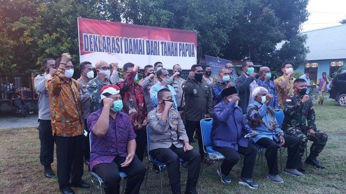 Tokoh Lintas Agama dan Tokoh Masyarakat di Kabupaten Jayapura Gelar Deklarasi Damai