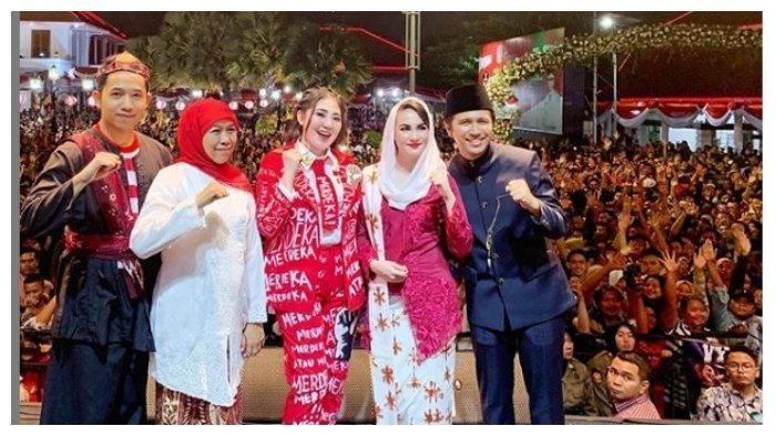 Via Vallen Ajak Gubernur Jatim Duet Lagu 'Sayang' saat Peringatan HUT RI, Arumi Bachsin Ikut Goyang