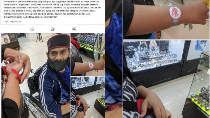 Unggahan seorang pria Malaysia dengan nama akun Facebook Mfa Bob menceritakan ketika dia membelikan jam tangan sungguhan ke seorang bocah, setelah melihatnya hanya memakainya dari kertas.