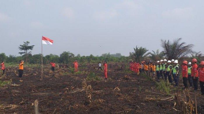 8 Peringatan HUT RI di Penjuru Negeri: Upacara di Hutan dan Lahan Tebakar, 200 Meter dari Titik Api