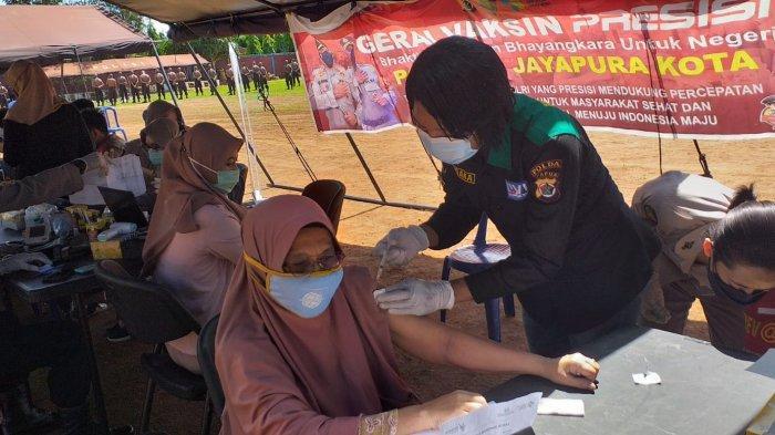 Sebanyak 139 Warga  Ikuti Vaksinasi Gratis di SPN Jayapura