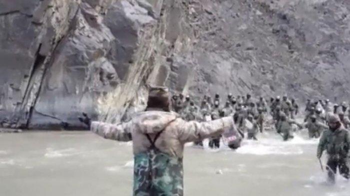 Detik-detik Tentara China dan Pasukan India Adu Jotos di Perbatasan, Pakai Tongkat hingga Batu