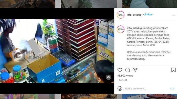 Viral Video Pria Palak Penjaga Toko dan Ancam Pakai Senjata Tajam, Kini Ditangkap Polisi
