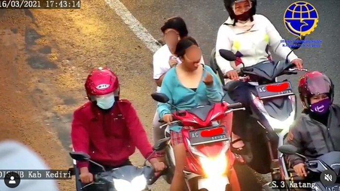 Viral Video 2 Wanita Tanpa Helm dan Masker Cuek saat Ditegur, Petugas: Lho Malah Nerobos Lampu Merah