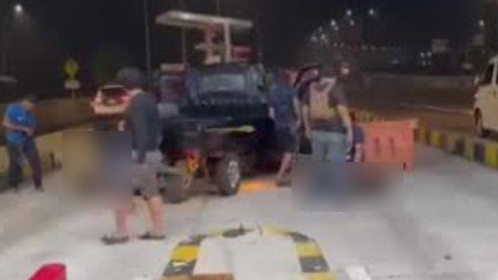 Viral Video Detik-detik Aparat Tangkap Komplotan Maling Mobil di Tol Kejapanan, Suara Tembakan Pecah