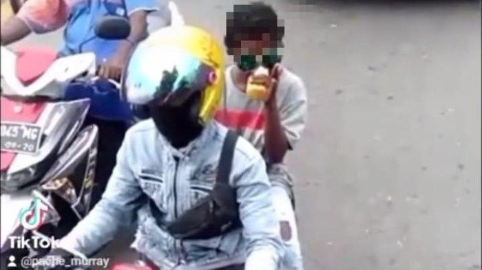 Viral Video Bocah di Manokwari Diduga Hirup Lem Aibon saat Dibonceng Naik Motor, Kadinsos Buka Suara
