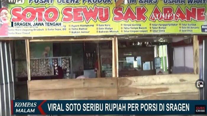 Viral Soto Harga Rp 1.000 di Sragen, Penjual Akui Ingin Bersedekah: Kalau Jumat Gratis