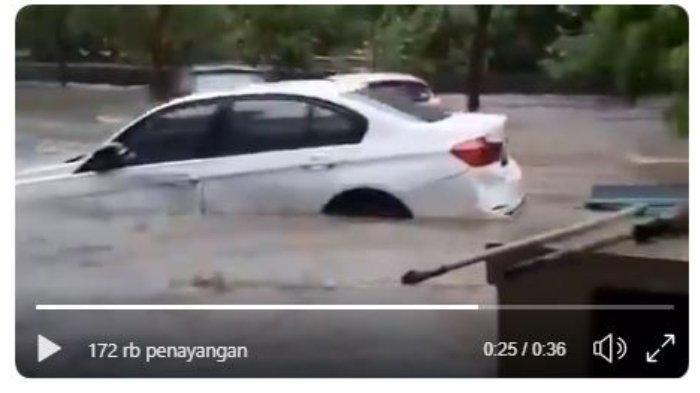 Viral di Twitter Mobil BMW Hanyut Terseret Banjir, Pemilik Temukan Mobilnya Tersangkut Pohon