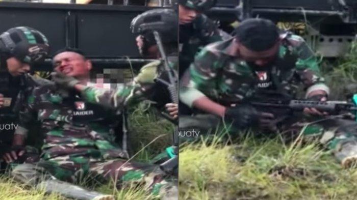 Viral Video Prada Maulana Masih Angkat Senjata meski Wajah Kena Rekoset saat Baku Tembak dengan KKB