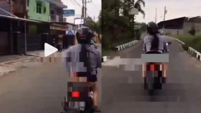 Viral Video Seorang Wanita Pamer Celana Dalam saat Naik Motor, Polisi Tagih Klarifikasi