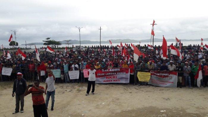 Warga Fakfak Kibarkan Merah Putih, Minta Polisi Segera Tangkap Provokator Kerusuhan
