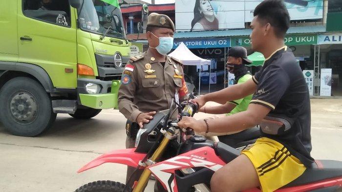 136 Warga Terjaring di Jalintim Riau dalam Operasi Protokol Kesehatan Tim Yustisi Covid-19 Pelalawan