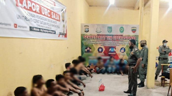 16 Remaja Pesta Miras Panik Digerebek Satpol PP Inhil, 14 Orang Dapat Sanksi, 2 Disuruh Pulang