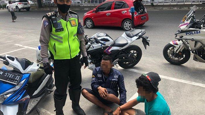 Nekat Lawan Arus Tak Pakai Helm di Depan Polisi,Dihentikan Malah Kabur,Kejar-kejaran Bak Film Action