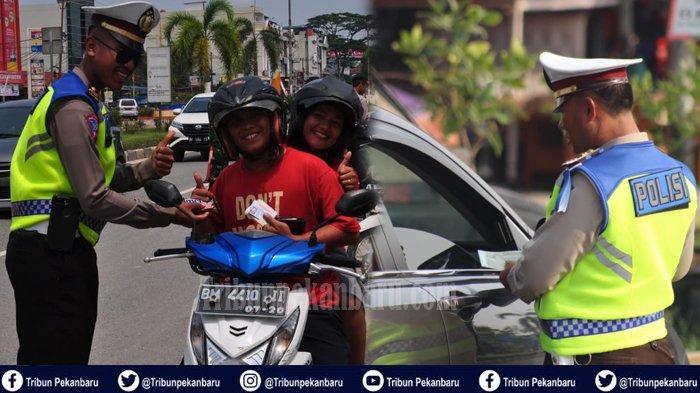 25 Sepeda Motor dari 95 Pelanggar Dijaring Petugas pada Hari Pertama Operasi Zebra 2019 di Riau