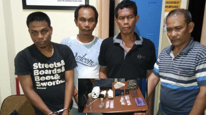 Punya 33 Paket Kecil Sabu Siap Edar, Empat Lelaki di Dumai Diamankan Polisi