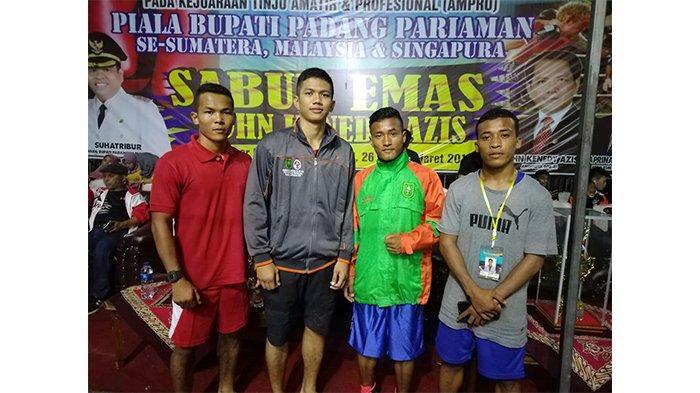 Kalahkan Petinju Singapura dan Malaysia, Riau Bawa Pulang 4 Medali dari Padang Pariaman