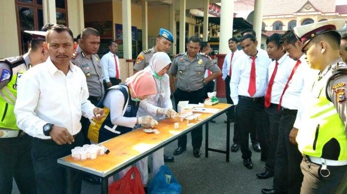 40 Personel Polres Rohul Jalani Tes Urine Tahap 2, Ini Hasilnya