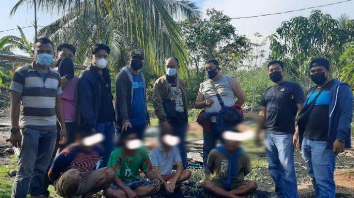 4 Pria di Kepulauan Meranti Pelaku Bobol Rumah dan Sarang Burung Walet Diringkus Polisi
