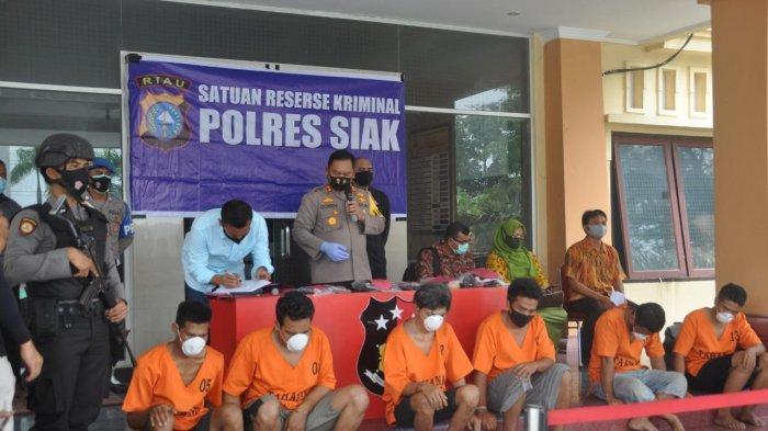6 Orang Sindikat Pembobol Sekolah di Siak Diringkus Polisi, Ini Modus Mereka Gasak Barang-barang