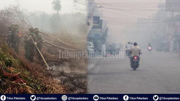 7 Siswa SMK Dilarikan ke UGD, Sesak Nafas Akibat Kabut Asap di Riau, Kavaleri Turun Padamkan Api