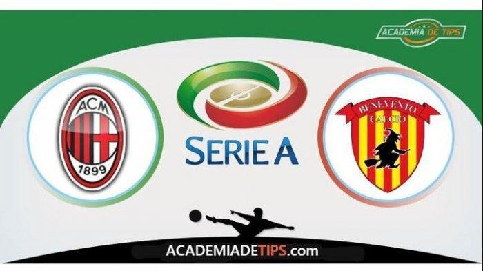 LIVE AC Milan vs Benevento, Kebut-kebutan Dengan Juventus Menuju Puncak Klasemen Liga Italia