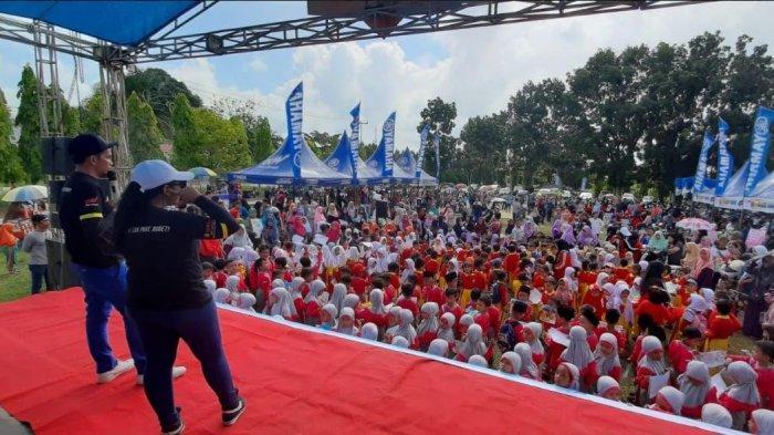 Masyarakat Perawang, Siak Bergembira Sambut Berbagai Perlombaan yang Digelar Yamaha