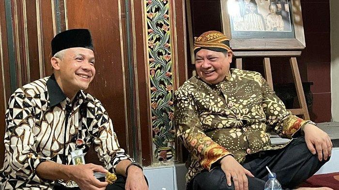 Airlangga Hartarto dan Ganjar Pranowo Ziarah Kiyai Bersama di Jatinom Klaten