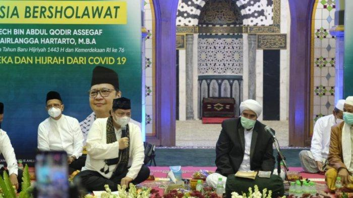 Airlangga-Habib Syech Gelar Indonesia Bershalawat Doakan Pandemi Berakhir