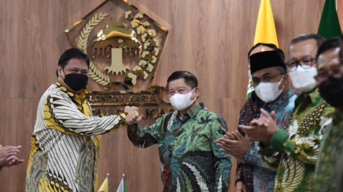 Airlangga Hartarto dan Suharso Monoarfa Bersilaturahmi, Bahas Kesamaan Golkar dan PPP