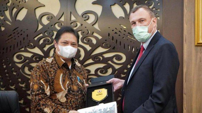 Menko Airlangga Hartarto Terima Audiensi Komite Internasional Palang Merah
